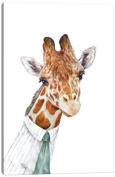 Mr Giraffe Canvas Art Print