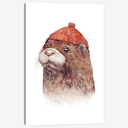 Otter Canvas Print #ACR36} by Animal Crew Art Print