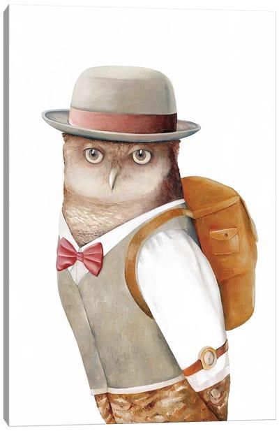 Owl Traveller Canvas Art Print
