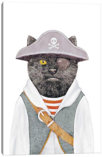 Pirate Cat Canvas Art Print
