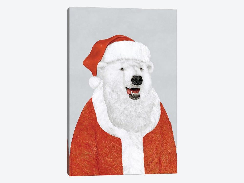 Polar Bear Santa by Animal Crew 1-piece Canvas Art