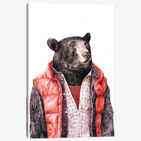 Black Bear Canvas Print #ACR3} by Animal Crew Canvas Art