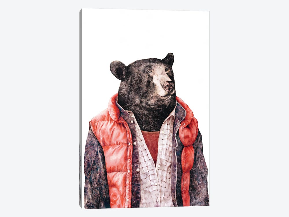 Black Bear by Animal Crew 1-piece Canvas Wall Art