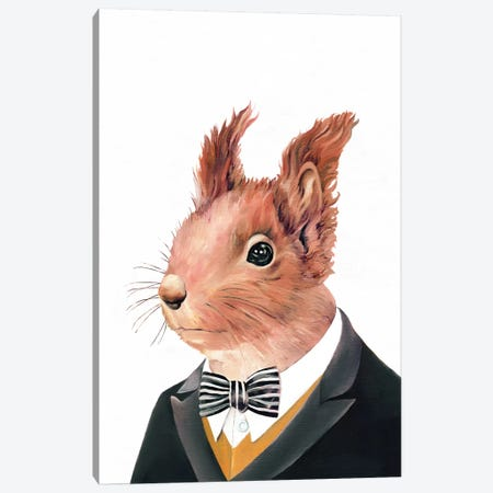 Red Squirrel Canvas Print #ACR42} by Animal Crew Art Print