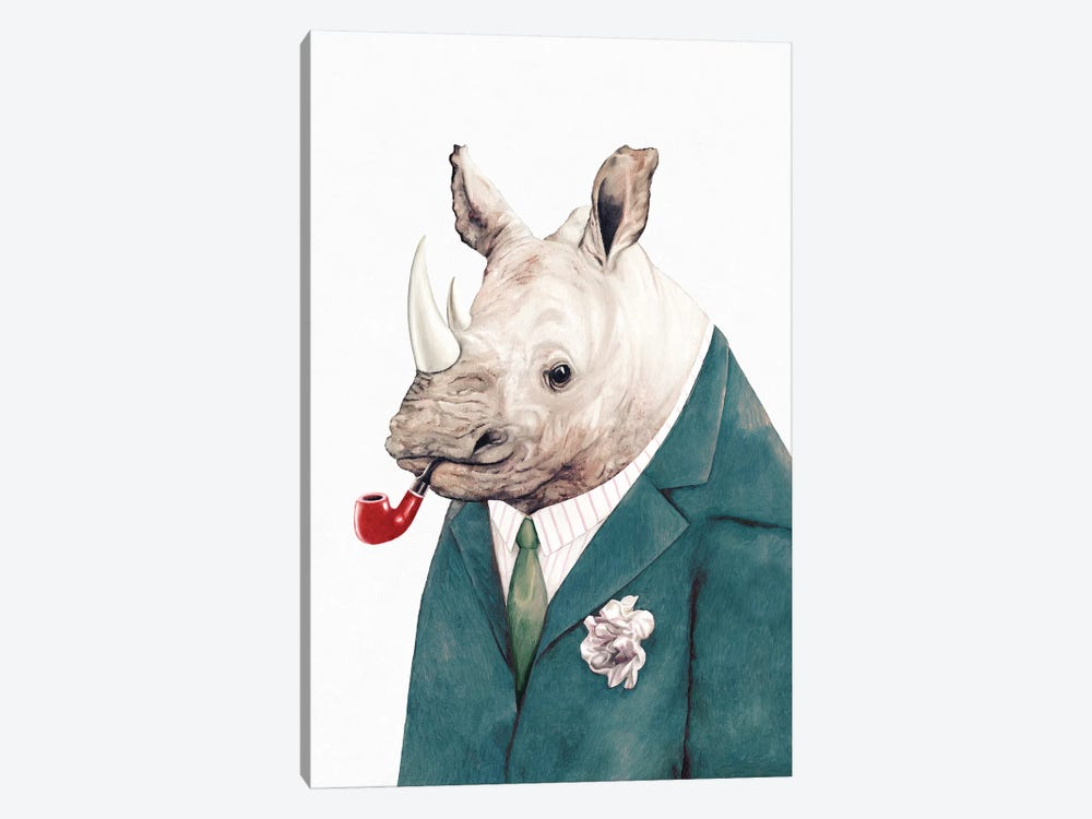Rhino Green Suit by Animal Crew 1-piece Canvas Wall Art