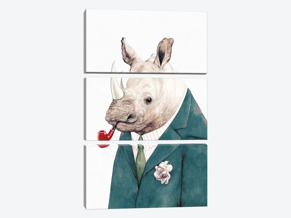 Rhino Green Suit by Animal Crew 3-piece Canvas Artwork