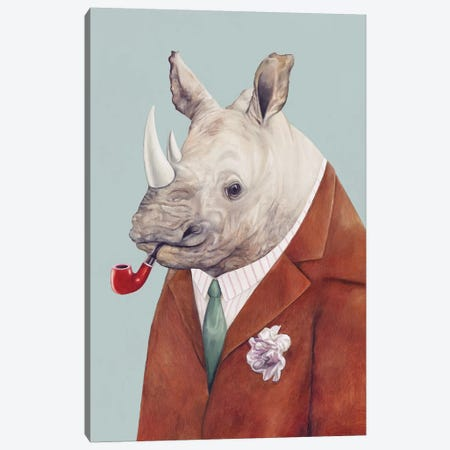 Rhinoceros Canvas Print #ACR45} by Animal Crew Canvas Wall Art