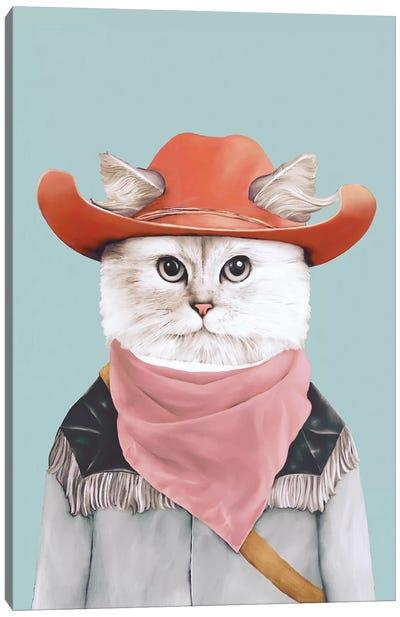 Rodeo Cat Canvas Art Print