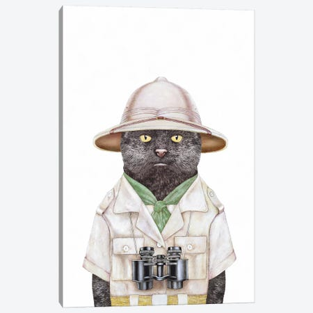 Safari Cat Canvas Print #ACR48} by Animal Crew Canvas Print