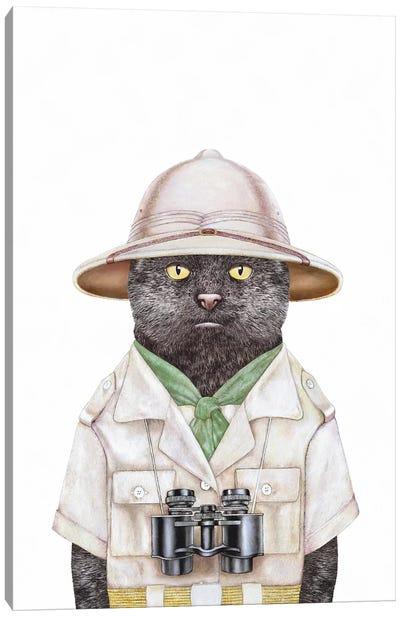 Safari Cat Canvas Art Print