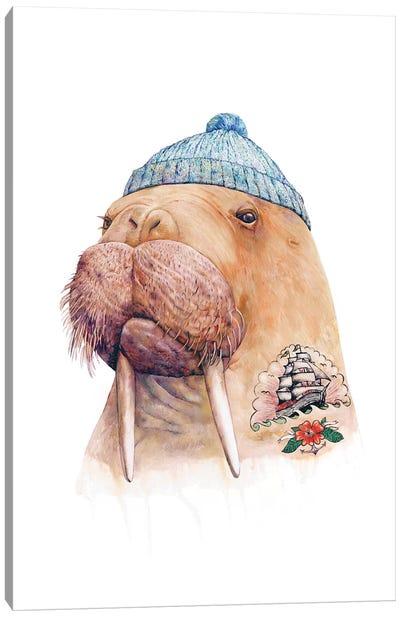 Tattooed Walrus Canvas Art Print