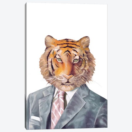 Tiger Canvas Print #ACR53} by Animal Crew Canvas Wall Art