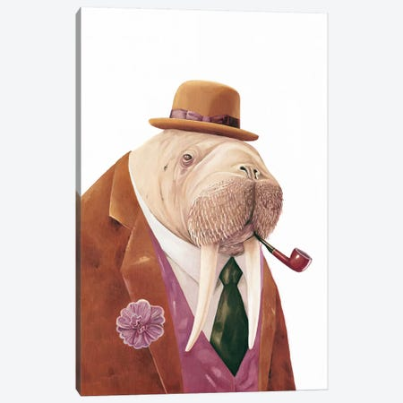 Walrus Canvas Print #ACR55} by Animal Crew Canvas Print