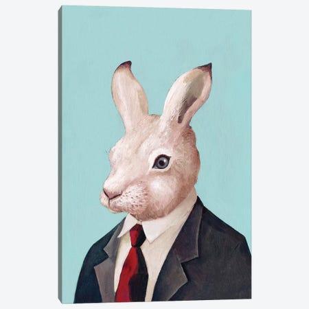 White Rabbit Canvas Print #ACR56} by Animal Crew Canvas Print