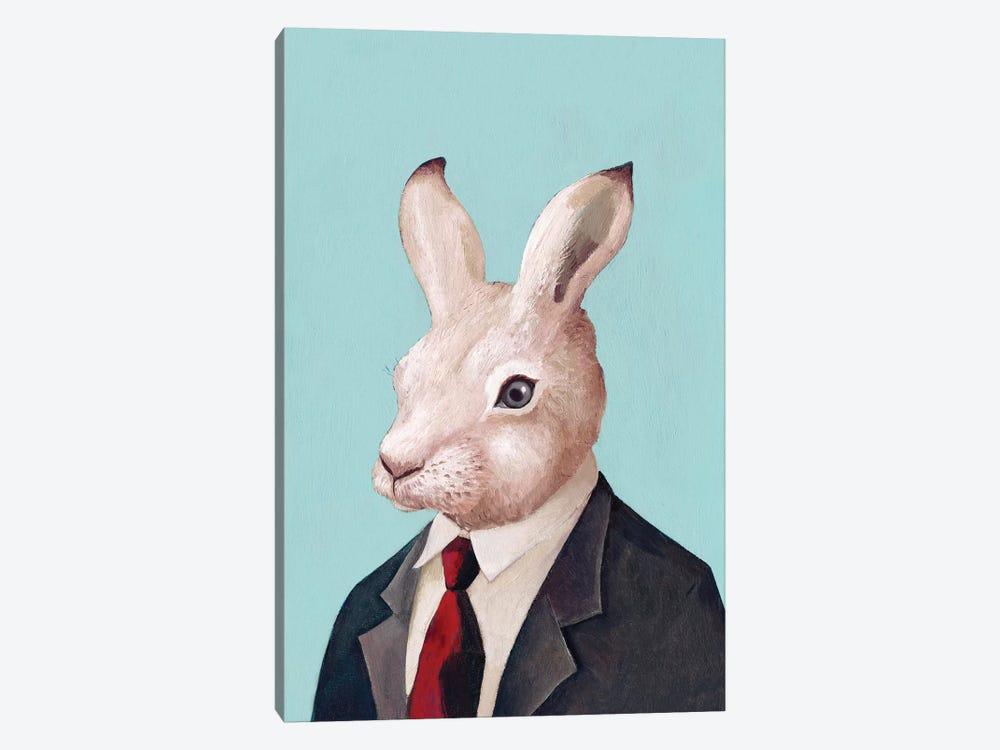 White Rabbit by Animal Crew 1-piece Canvas Print