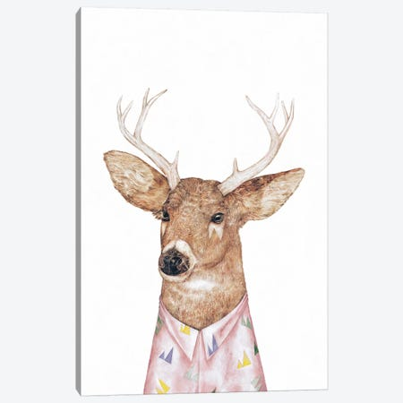 White-Tailed Deer Canvas Print #ACR57} by Animal Crew Canvas Art Print
