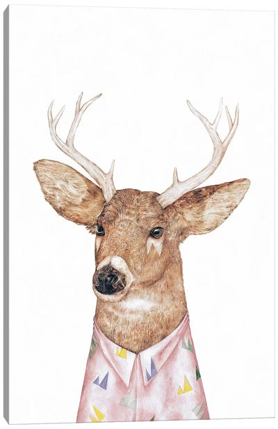 White-Tailed Deer Canvas Art Print