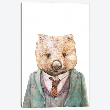 Wombat Canvas Print #ACR59} by Animal Crew Canvas Wall Art