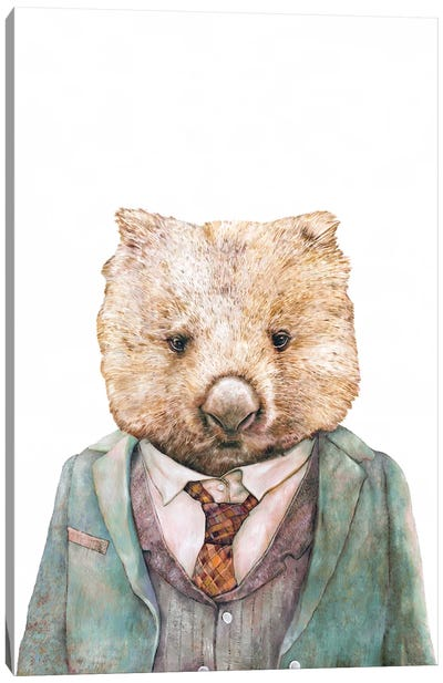 Wombat Canvas Art Print