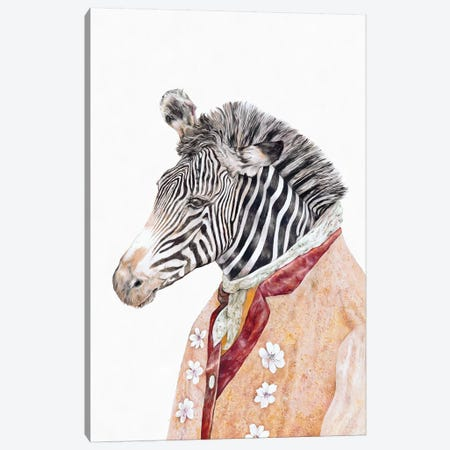 Zebra Canvas Print #ACR60} by Animal Crew Canvas Print