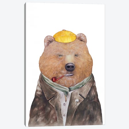 Brown Bear Canvas Print #ACR6} by Animal Crew Canvas Art Print