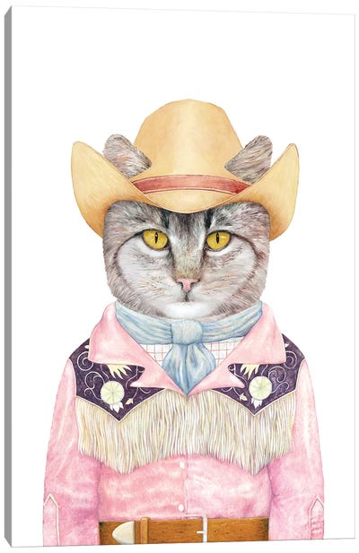 Country Cat Canvas Art Print