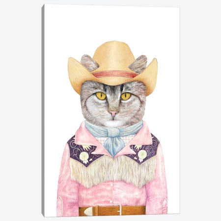 Country Cat Canvas Print #ACR7} by Animal Crew Canvas Print