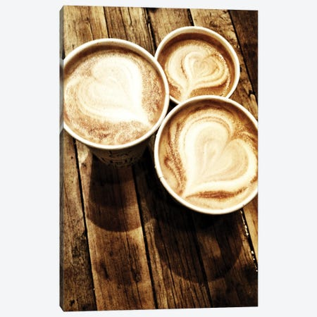 Love In A Latte Canvas Print #ACT16} by Acosta Canvas Print