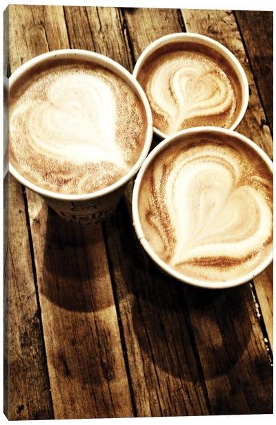Love In A Latte Canvas Art Print