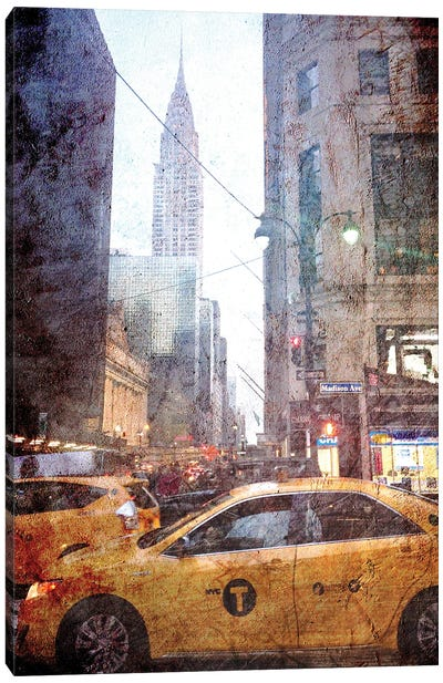 Rainy Madison Avenue Canvas Art Print