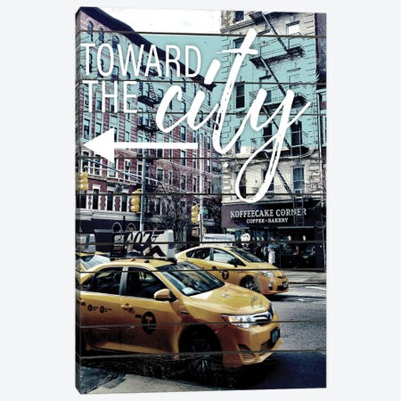 Toward The City Canvas Print #ACT19} by Acosta Canvas Artwork