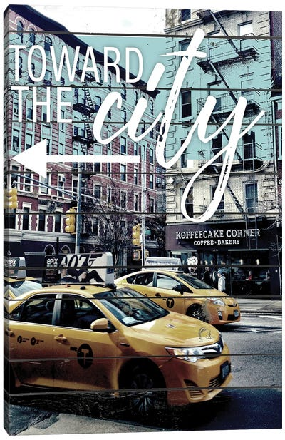 Toward The City Canvas Art Print