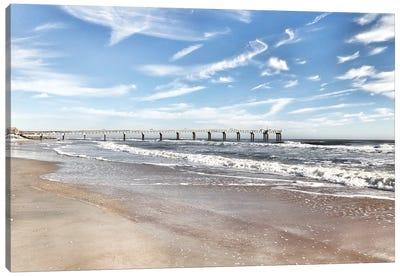 Coastal Dock Canvas Art Print