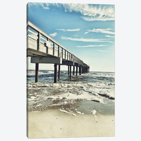 Dock Side Canvas Print #ACT26} by Acosta Canvas Art