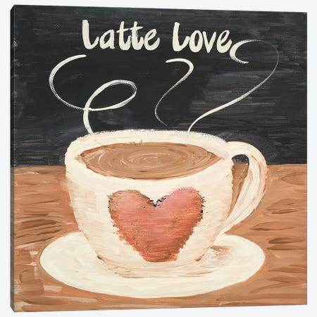 Latte Love Square Canvas Print #ACT28} by Acosta Canvas Art Print