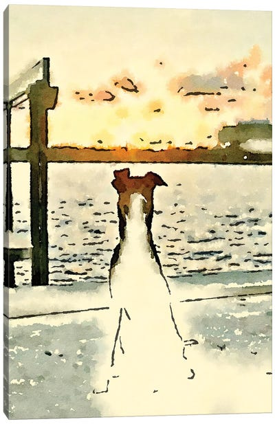 Paws At Sunset Canvas Art Print