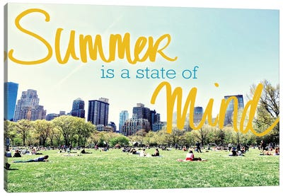 Summer Is A State Of Mind Canvas Art Print
