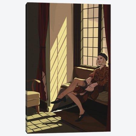 Bonnie Canvas Print #ACU11} by Artcatillustrated Canvas Print