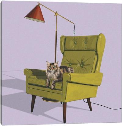 Cats In Fancy Chairs II Canvas Art Print