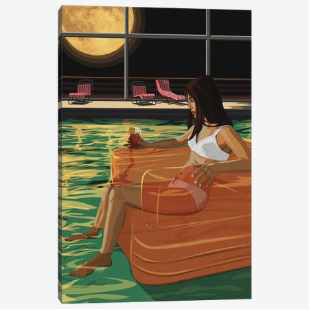 Lonesome Floater Canvas Print #ACU29} by Artcatillustrated Canvas Artwork
