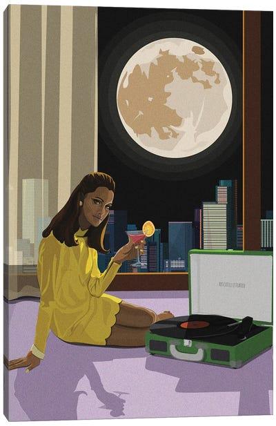 Moonlight Tunes Canvas Art Print