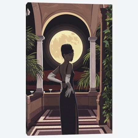 Mystery Woman Canvas Print #ACU32} by Artcatillustrated Canvas Print