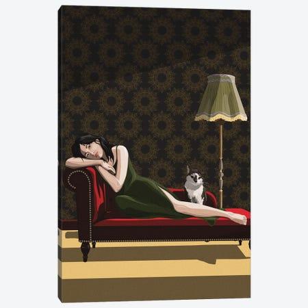 Sunbeam Daydream Canvas Print #ACU35} by Artcatillustrated Canvas Artwork