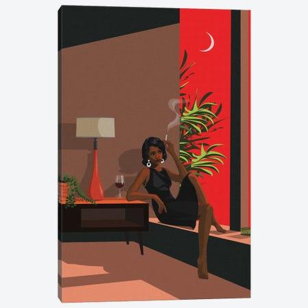 Sunset Cigarette Canvas Print #ACU37} by Artcatillustrated Canvas Art