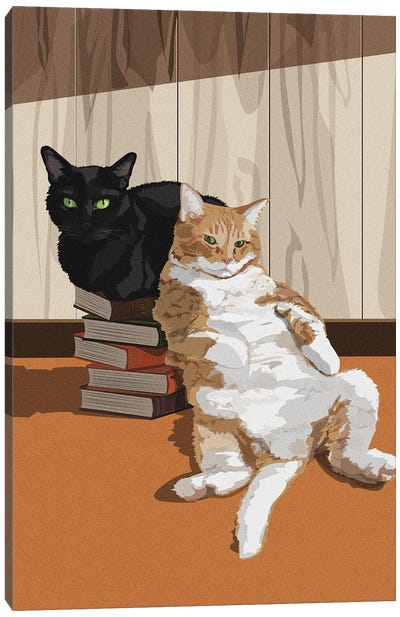 Two Cats Canvas Art Print