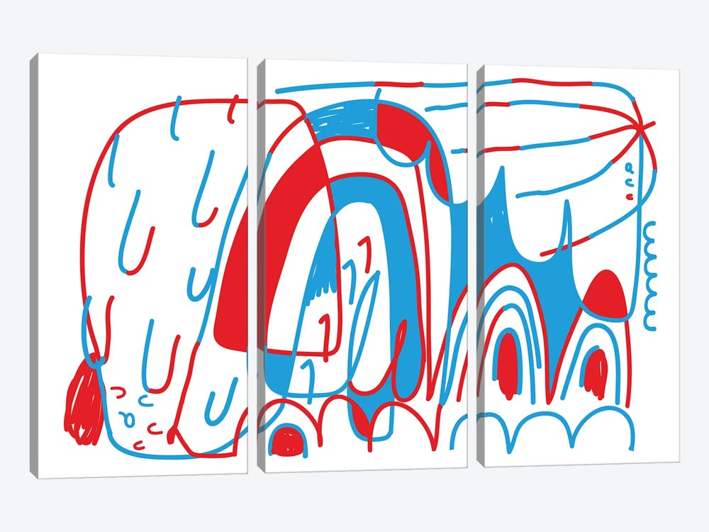 N° A B C by Alessandro La Civita 3-piece Canvas Art Print