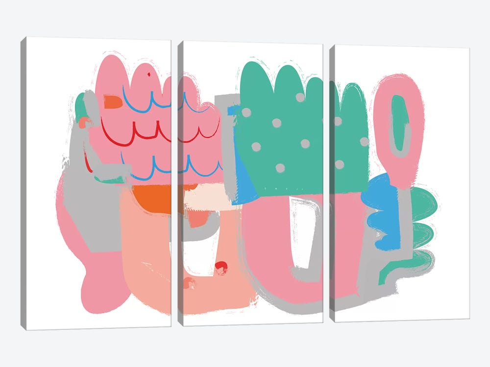 Yoshy by Alessandro La Civita 3-piece Canvas Wall Art