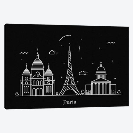 Paris Canvas Print #ADA100} by Ayse Deniz Akerman Canvas Art