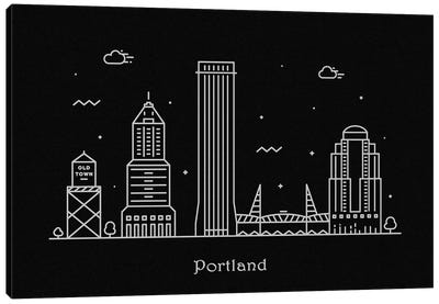 Portland Canvas Art Print