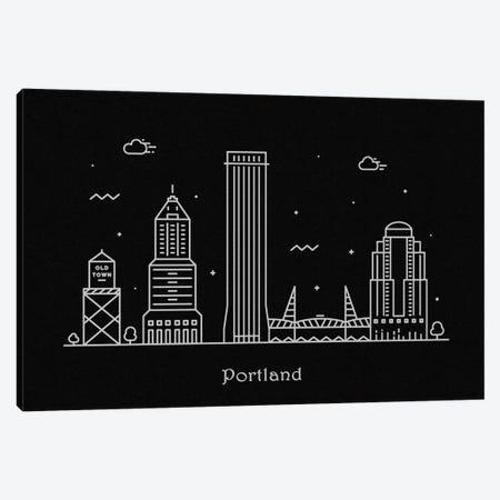 Portland Canvas Print #ADA101} by Ayse Deniz Akerman Canvas Artwork